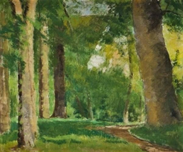 Henri Rouart, 18xx, Landscape at la Queue-en-Brie, 38x46, ?? (aR17;aR18;aR20). Compare: 2IE-1876-227, Chemin bordé d'Arbres (Normandie).