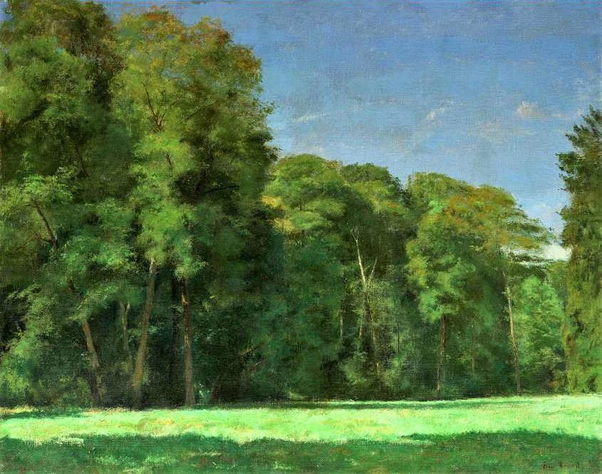 Henri Rouart, TOP1C.6, 18??, Sbr, Trees (in the parc) at La Queue-en-Brie, 73x92, private (aR6;aR21;aR2;R92,no18). Compare: 8IE-1886-140, Lisière de bois.