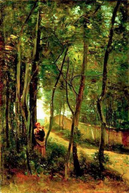 Henri Rouart, 1860s or 1870s, Chemin au Mée, Melun (Road at Mée, near Melun), 78x53, private (aR6;iR64;R92,no9). Option for: 2IE-1876-231, Chemin des Fourneaux (Melun).