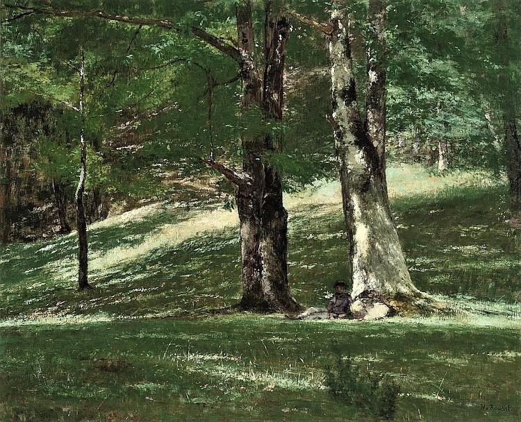 Henri Rouart, 18xx, La forêt, 60x73, A2010/04/21 (aR12;aR11;aR13;aR14) Maybe: 1IE-1874-152, Forêt.