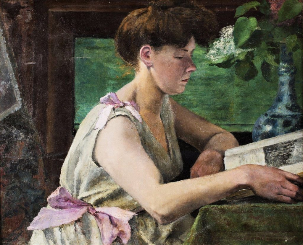 Henri Rouart, 1895-1912ca, Femme à la lecture (Woman reading), 61x74, A2017/06/21 (aR16;aR13).