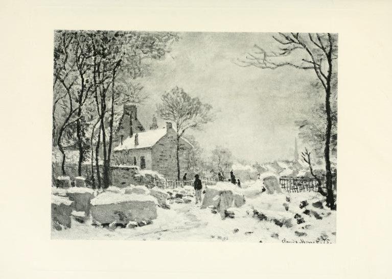 Monet, CR353, 1875, Effet d'hiver à Argenteuil, 59x80, private (R22II). Rouart collection (R45,p32+++).
