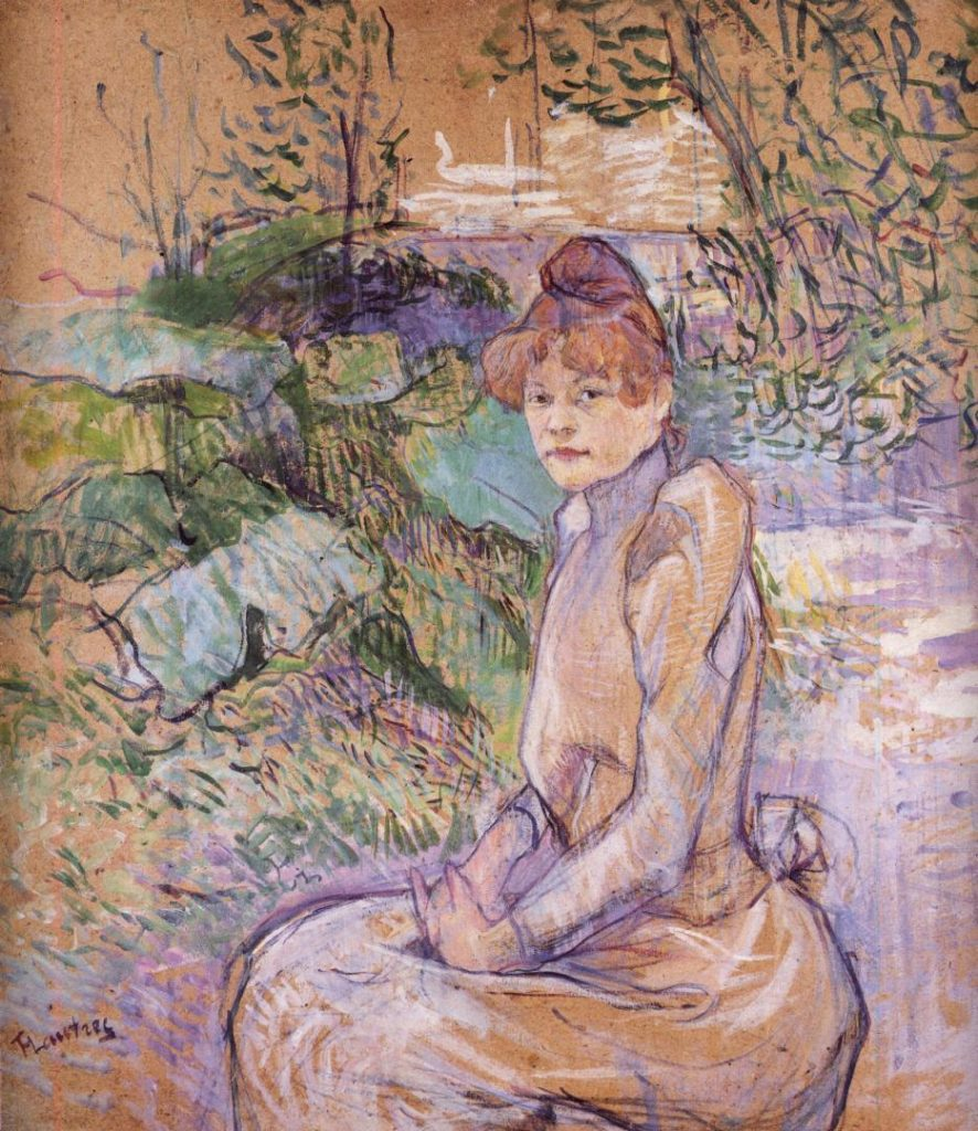 Toulouse-Lautrec, 1891, Woman in Monsieur Forest's Garden, xx, private (iR7). Rouart collection (R45).