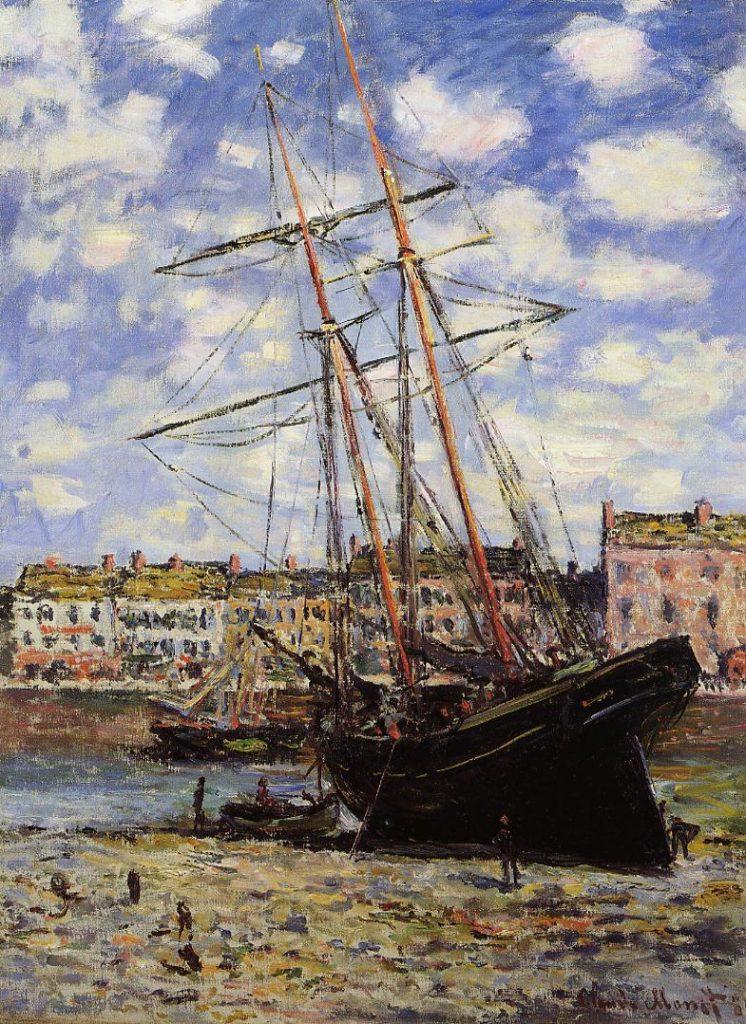 Claude Monet, 7IE-1882-64, Bateau échoué. Option: 1881, CR644, Boat lying at Low Tide (at Fécamp), 80x60, Tokyo FAM (iR2;iR8;R22,no644;R2,p394)