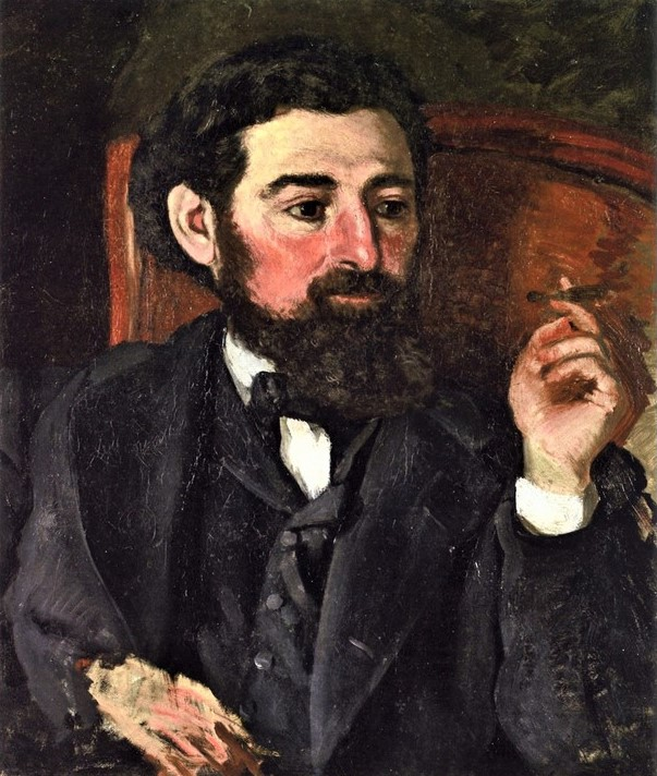 Bazille, 1869, Man with a Cigar (Portrait of Zacharie Astruc), 56x47, Montpellier (iR2;R88I,p19)