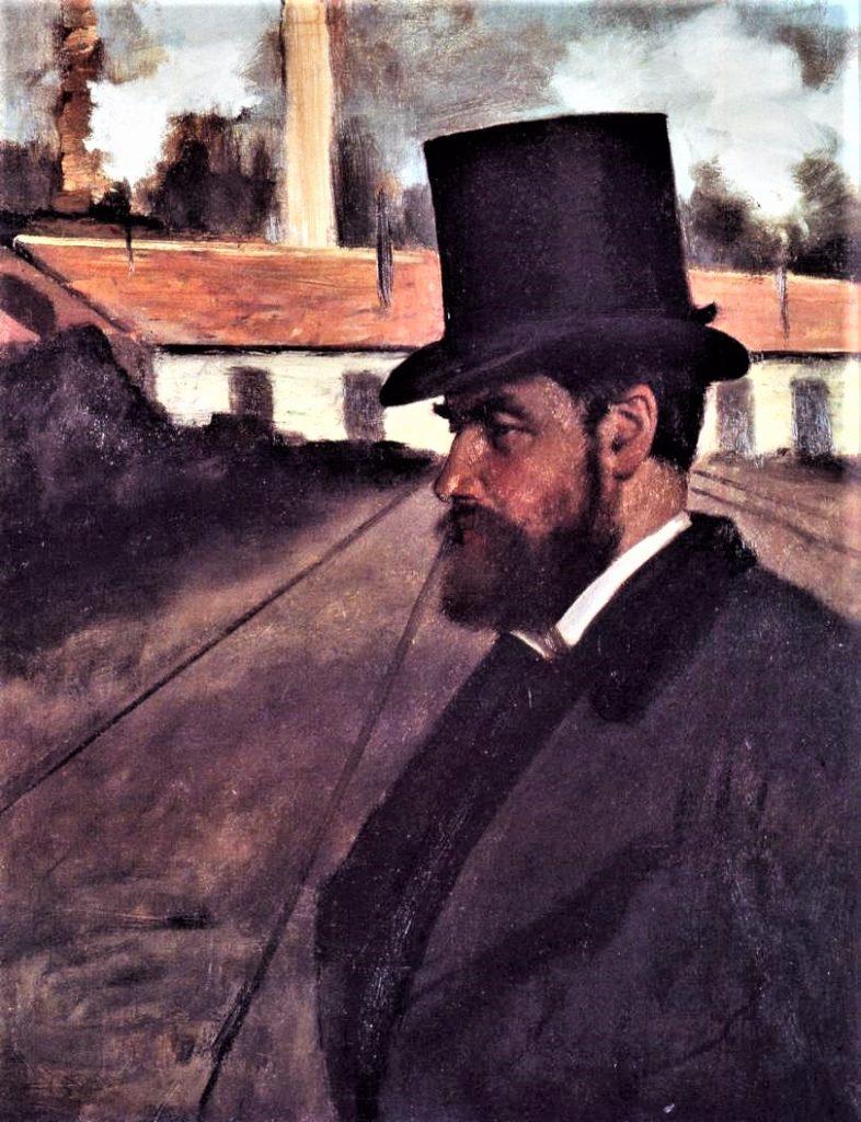 Edgar Degas, 3IE-1877-49, Portrait de monsieur H.R… Now: 1875, CR373, Henri Rouart in front of His Factory, 65x50, CI Pittsburgh (iR2)