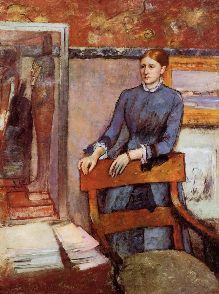 Edgar Degas, 1886(?), Hélène Rouart in her Fathers Study, 161x120, NG London (aR20;M61). Note: Hélène did marry 1885/05/09, probably this work was made before.