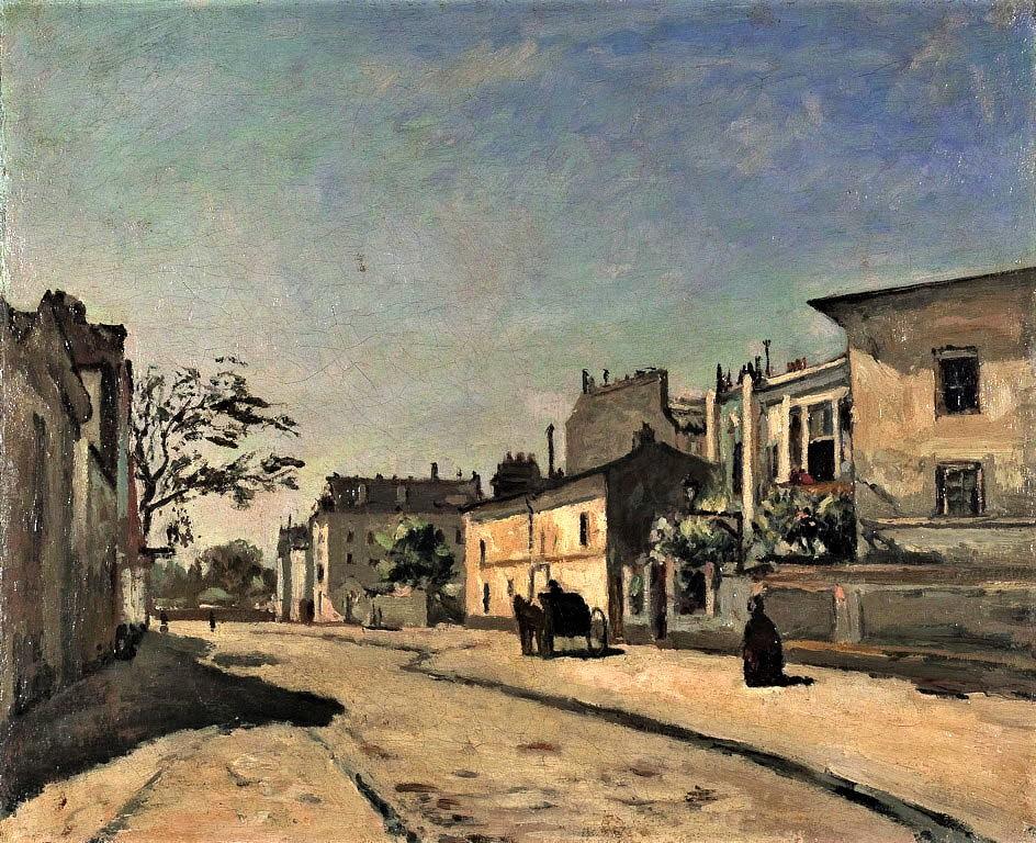 Edouard Béliard, 1873-77ca, Streetscene, 39x47, AI Chicago