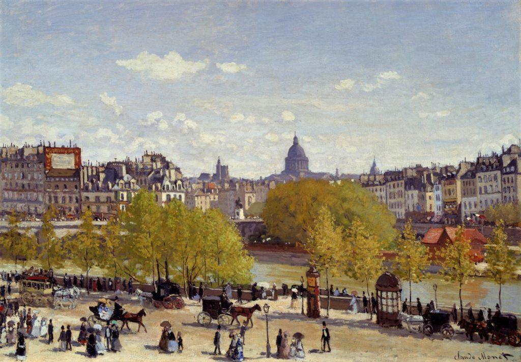 Claude Monet, 1867, CR83, Quai-du-Louvre, 65x92, Km The Hague (iR51;R22,no83;M71) Probably bought by Latouche in 1867.