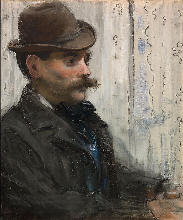 Manet, 1878-9, CRII6, Homme au chapeau rond (Alphonse Maureau), pastel + gouache, 55x45, ©AI Chicago