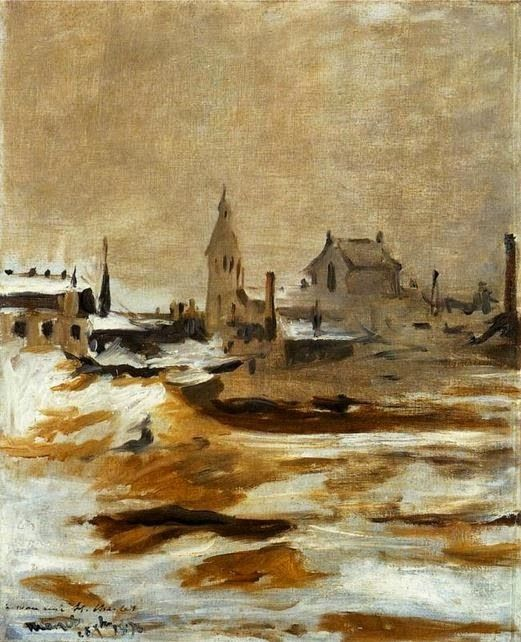 Maureau(?), unknown title (City view; snow)