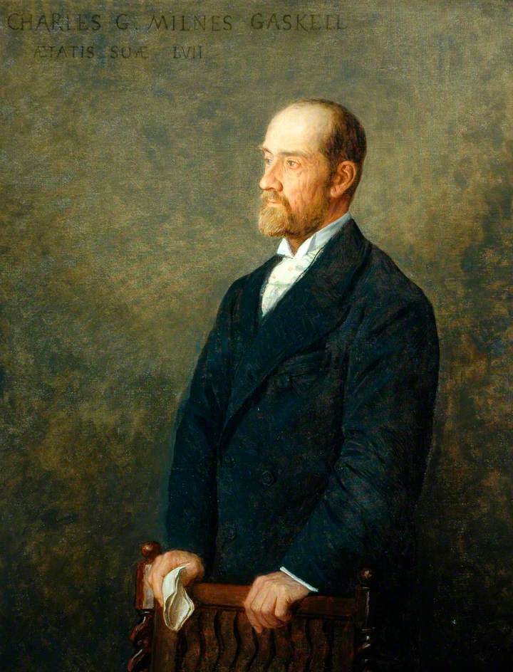 Alphonse Legros, 18xx, Charles G. Milnes Gaskell, Chairman of the County Council of the West Riding of Yorkshire, 117x92, Civic Collection UK (iR2)