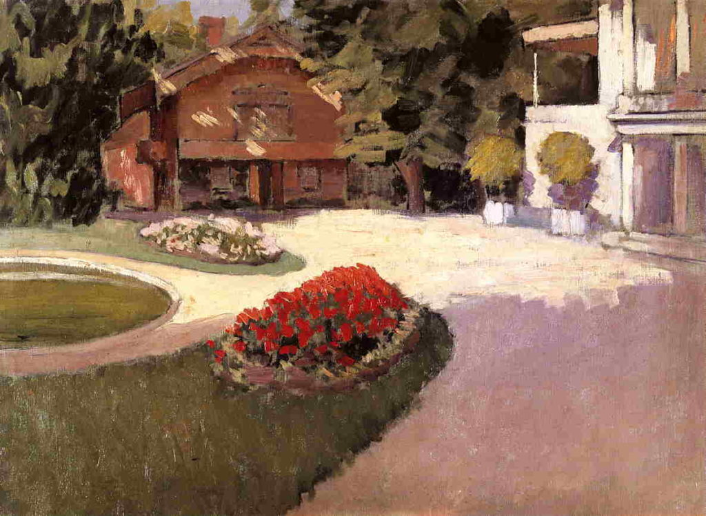 Gustave Caillebotte, 2IE-1876-22, Jardin. Maybe?: 1876ca, CR33+39, Garden at Yerres, 59x81, private (iR2;R101,no33;R102,no39)
