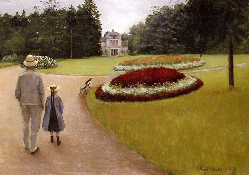 Gustave Caillebotte, 2IE-1876-23, Jardin. Maybe: 1875, CR34+25, The park on the Caillebotte property at Yerres, 65x92, A2005/11/01 (iR2;iR11;R102,no25+p282;R101,no34).