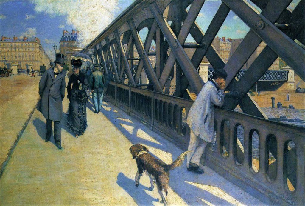Gustave Caillebotte, 3IE-1877-2, Le pont de l'Europe. Now: 1876, CR44+49, Le pont de l'Europe, 125x181, PP Geneva (iR2;R2,p210;R101,no44;R102,no49+p282;R90II,p69+85;R41,p97).