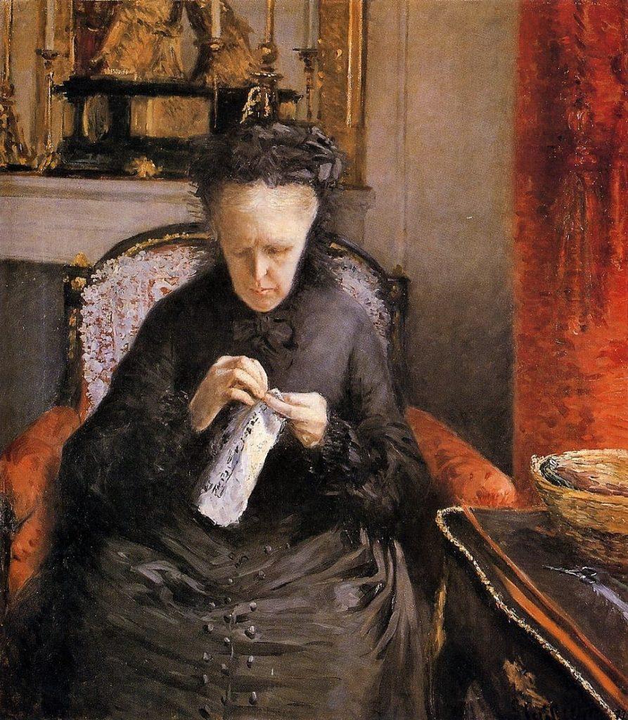 Gustave Caillebotte, 3IE-1877-4, Portrait de Madame C... Now: 1877, CR53+58, Portrait of Mme. Martial Caillebotte (The Artist's Mother), 83x72, private (iR2;R101,no53;R102,no58+p282;R90II,p69+85;R2,p203).