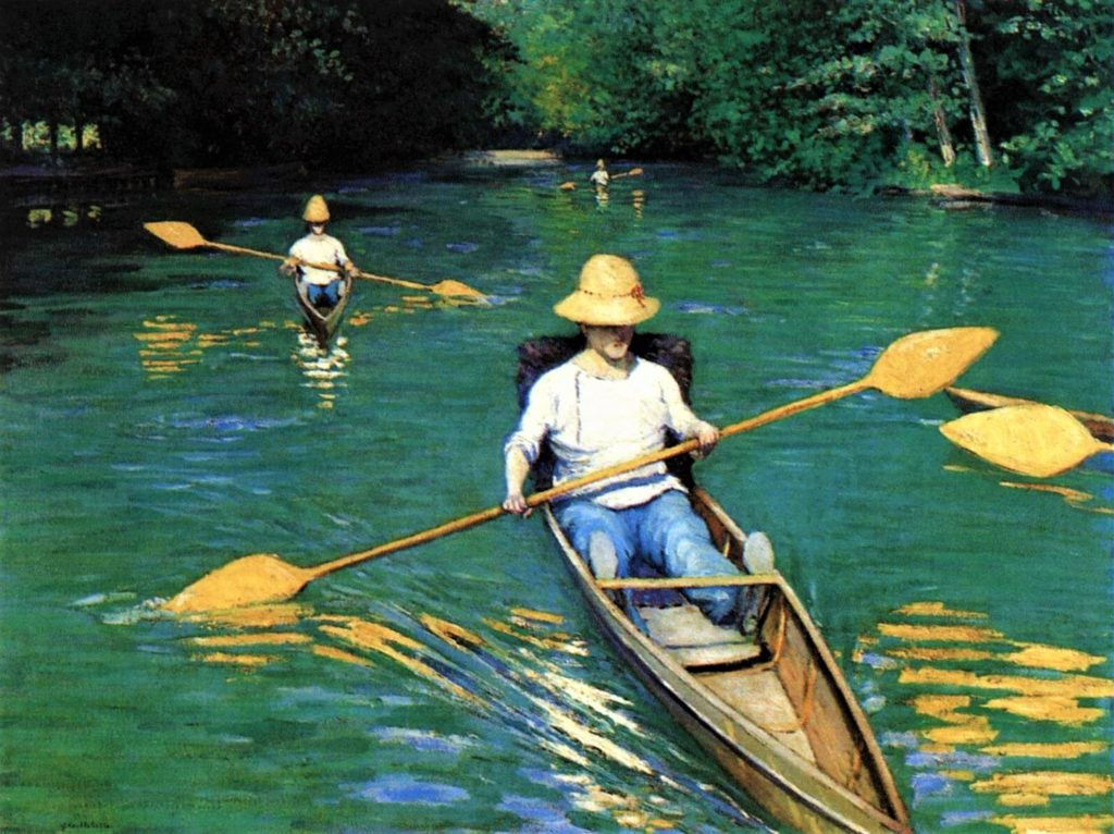 Gustave Caillebotte, 4IE-1879-10, Périssoires. Now: 1877, CR95+87, Skiffs (Canoeing on the Yerres), 89x116, NGA Washington (iR2;R2,p272;R90II,p105+122;R101,no95;R102,no87+p282). Probably: DR1886-186.