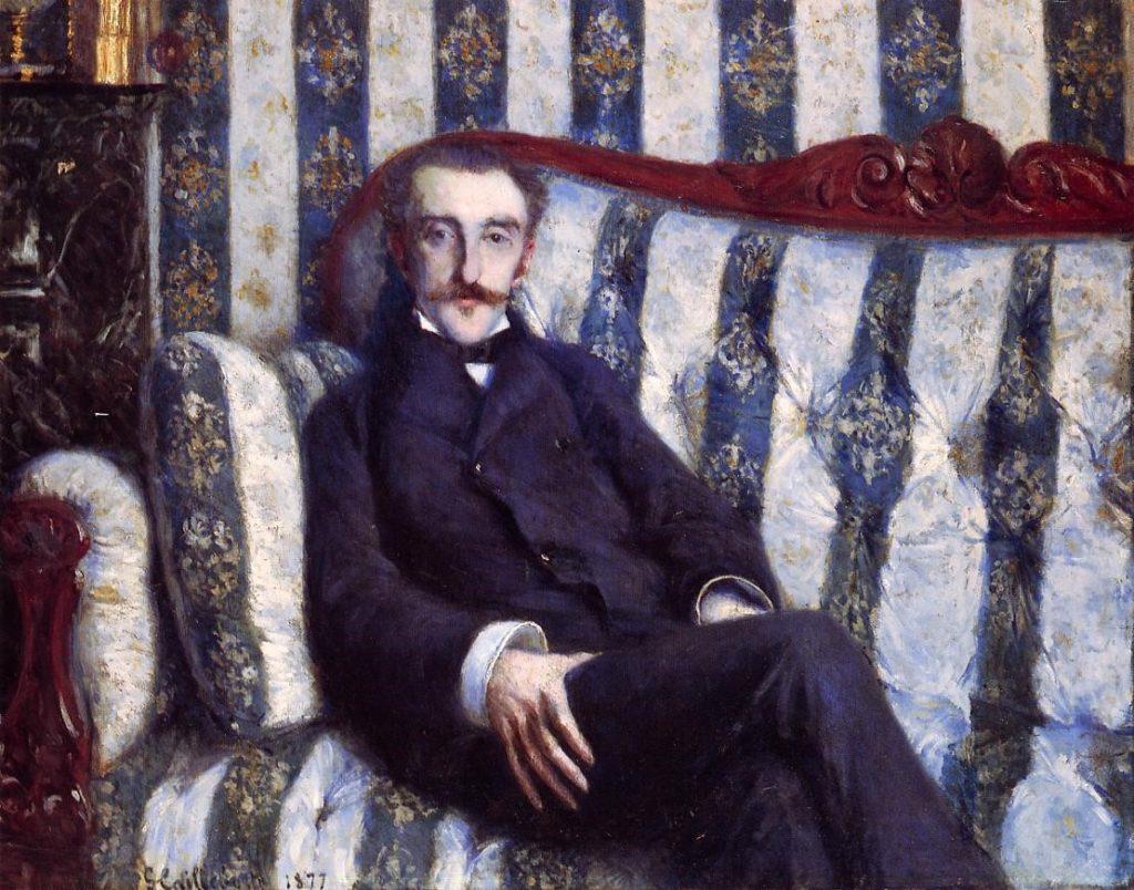 Gustave Caillebotte, 4IE-1879-19, Portrait de M.R... Now: 1877, CR86+60, Portrait of a Man (M.R.), 105x81, private (iR2;R102,no60+p282;R101,no86;R2,p266).