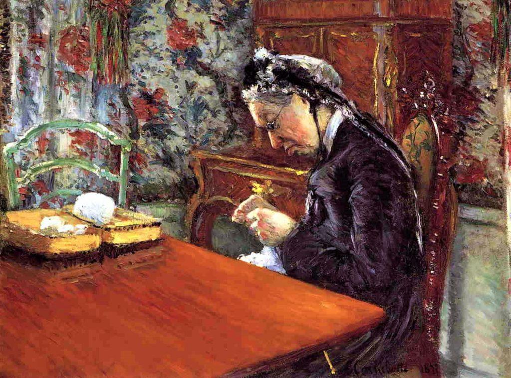 Gustave Caillebotte, 4IE-1879-21, Portrait de Mme B... Now: 1877, CR68+67, Portrait of Madame Boissière Knitting, 65x80, MFA Houston, (iR2;R2,p266;R90II,p106+124;R101,no68;R102,no67+p282)