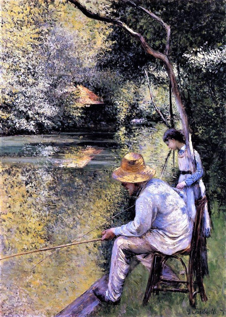 Gustave Caillebotte, 4IE-1879-23, pêche à la ligne. Now: 1878, CR89+118, Fishing, 157x113, private (iR2;R2,p267;R90II,p106+123;R101,no89;R102,no118+p282)