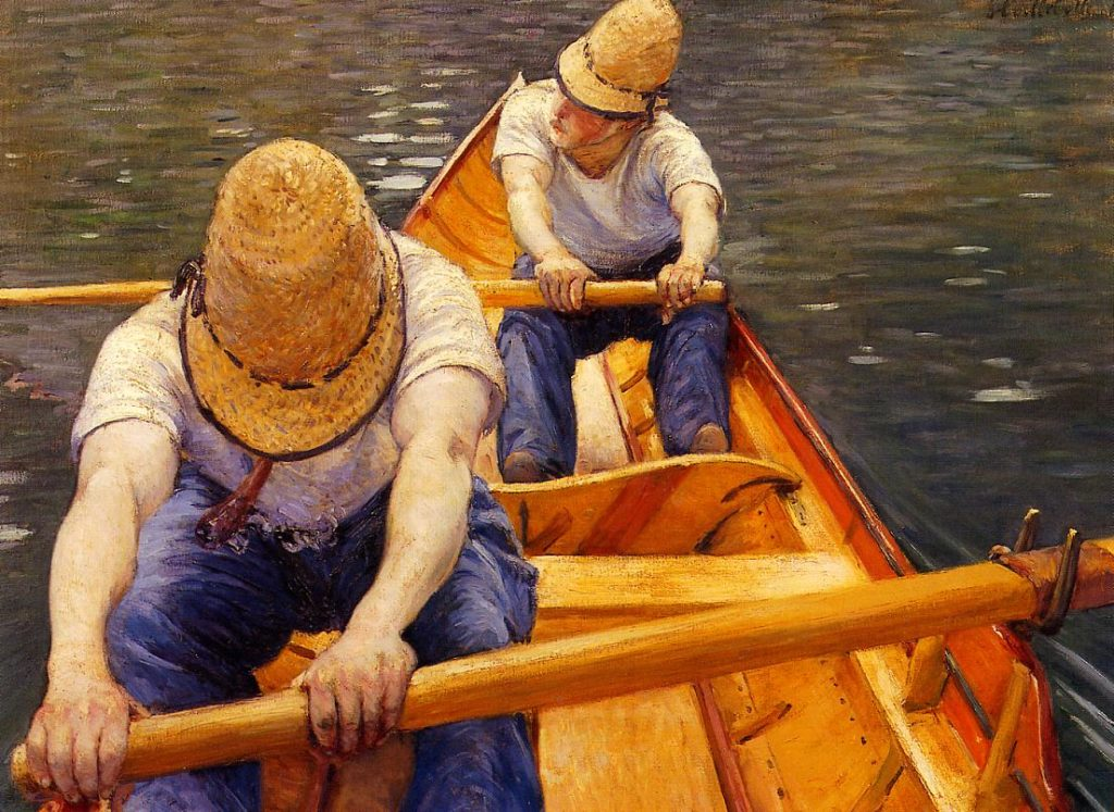 Gustave Caillebotte, 4IE-1879-7, Canotiers. Now: 1877, CR75, Oarsmen, 81x116, private Paris (iR2;R2,p266;R90II,p105+122;R101,no75;R102,no83+p282;R41,p47). =DR1886-272; =DR1894-90