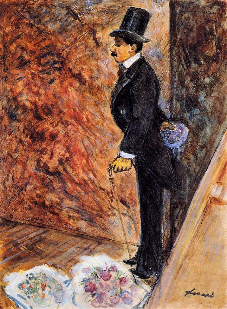 Jean-Louis Forain, 4IE-1879-95,Coulisses de théâtre (aquarelle). Maybe: 1878, In the Wings, gouache, 36x26, private (iR2;R3,p180;R2,p268)