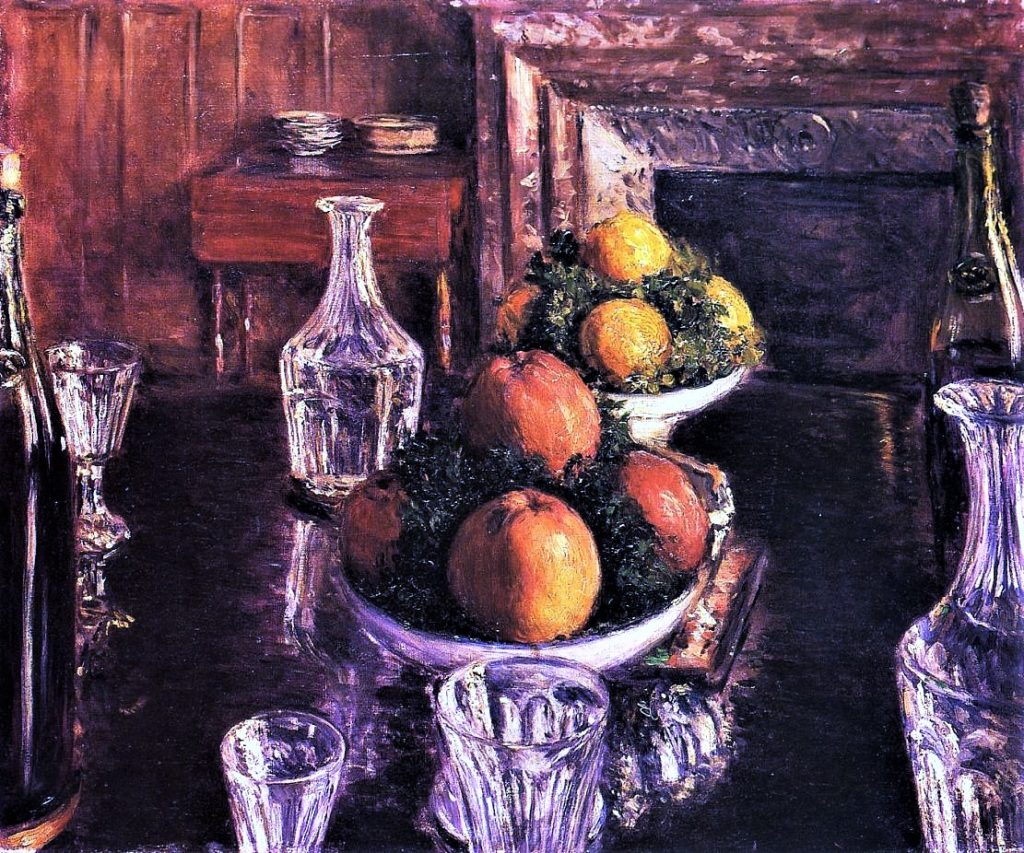 Gustave Caillebotte, 5IE-1880-11, Nature morte. Now: 1879, CR123+133, Still Life, 50x60, private (iR2;R2,p320;R90II,p146+160;R101,no123;R102,no133+283)
