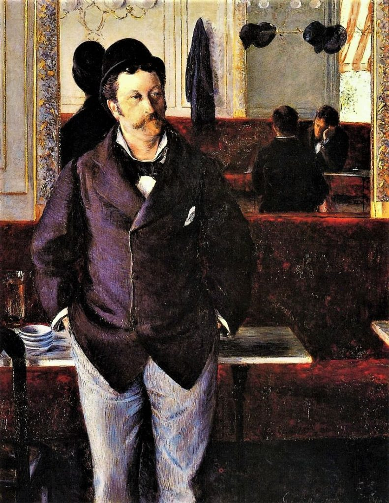 Gustave Caillebotte, 5IE-1880-6, Dans un café. Now: 1880, CR134+142, In a Café, 155x115, MBA Rouen (iR2;iR3;R101,no134;R102,no142+p283;R2,p292;R90II,p145+159;R41,p50)