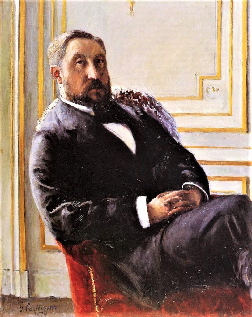 Gustave Caillebotte, 5IE-1880-7, Portrait de M.J.R. Now: 1879, CR117+129, Portrait of Jules Richemont, 100x81, private (iR2;R101,no117;R102,no129+p283;R90II,p145+159;R2,p310).