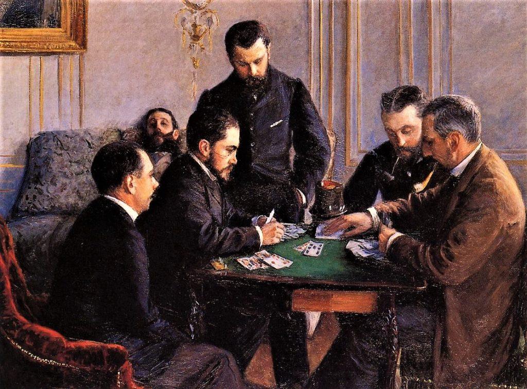 Gustave Caillebotte, 7IE-1882-1, Partie de bézique. Now: 1880-81, CR165/183, Game of Bezique, 121x161, Louvre Abu Dhabi (iR2;iR11;R2,p396;R101,no165;R102,no183+p283;R90II,p201+215;R41,p90)
