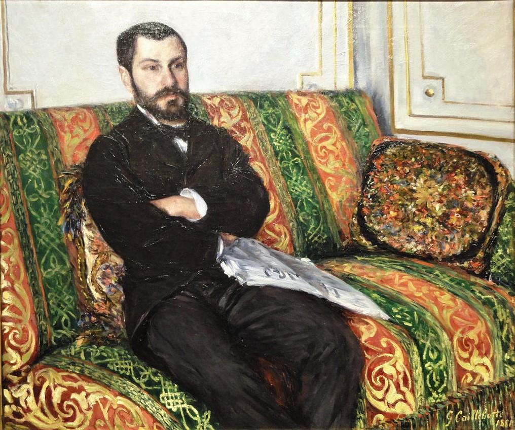 Gustave Caillebotte, 7IE-1882-5, Portrait de M.G. Now: 1881, CR167/182, Portrait of Richard Gallo, 97x116, NAMA Kansas City (iR6;R2,p394;R90II,p201+215;R101,no167;R102,no182+p283)