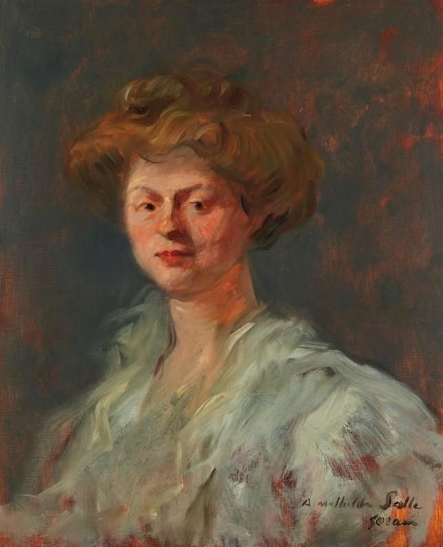 Jean-Louis Forain, 8IE-1886-32, Portrait de Mme S... Maybe?: 18xx, portrait of a lady (à Mathilde Salle), xx, A2006/06/21 (iR11;R2,p444)