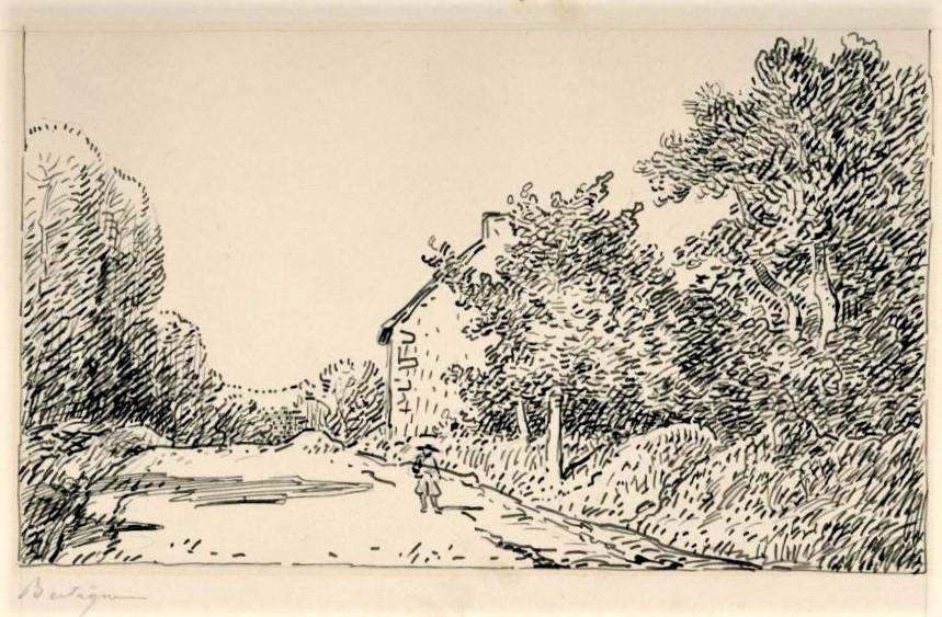 Léopold Levert, 18xx, paysage (option: HD1883/02/26-94, Dans les chemins de Fontenay-sous-Bois), dr, 14x18, A2017/03/25 (iR10;aR3;aR2)