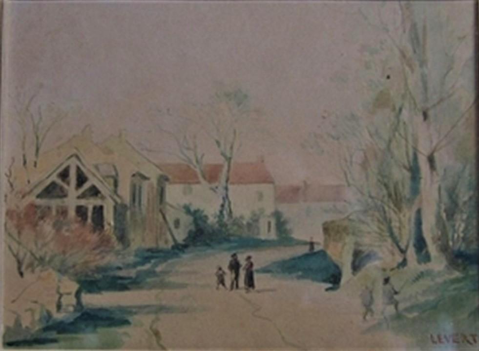 (Léopold?) Levert, 18xx, Village de Pontault (Brie) (PA1883-82), wc, xx, xx (iR10;aR2)