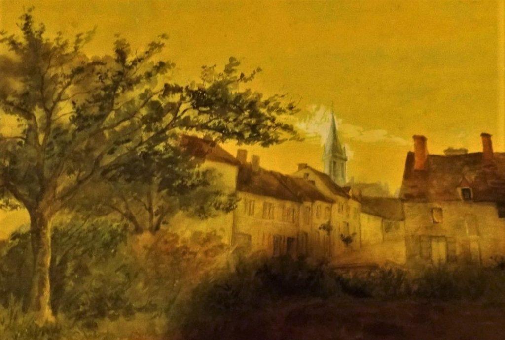 Léopold Levert: 18xx, peinture (~~PA1883 près de Fontenay; or -29 Sucy-en-Brie; or -39 Pontoise) (detail), 25x30, A2018/10/17 (aR4;iR10;aR2)