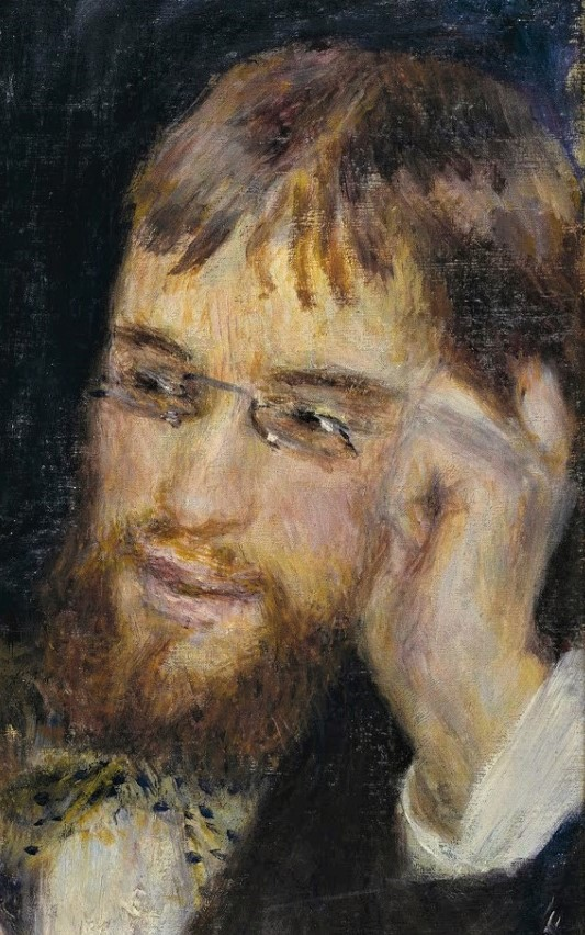 Auguste Renoir, 1879ca, Conversation (detail with Cordey), 45x38, Nm Stockholm (iR10;iR4;iR2;R30,no334)