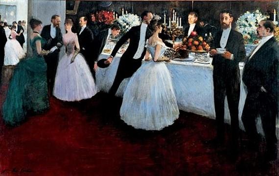 Jean-Louis Forain, SdAF-1884-951, Le buffet. Now: 1883-84, The buffet, 94x148, private (iR11;iR41;iR1;R50,p101;R43,p36)