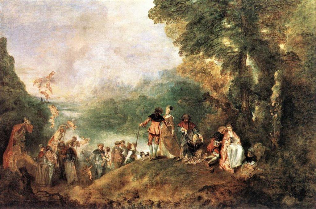 Watteau, 1717, Pilgrimage to Cythera, 129x194 Louvre (iR2;M5) Compare: Alfred Meyer, S1875-2562