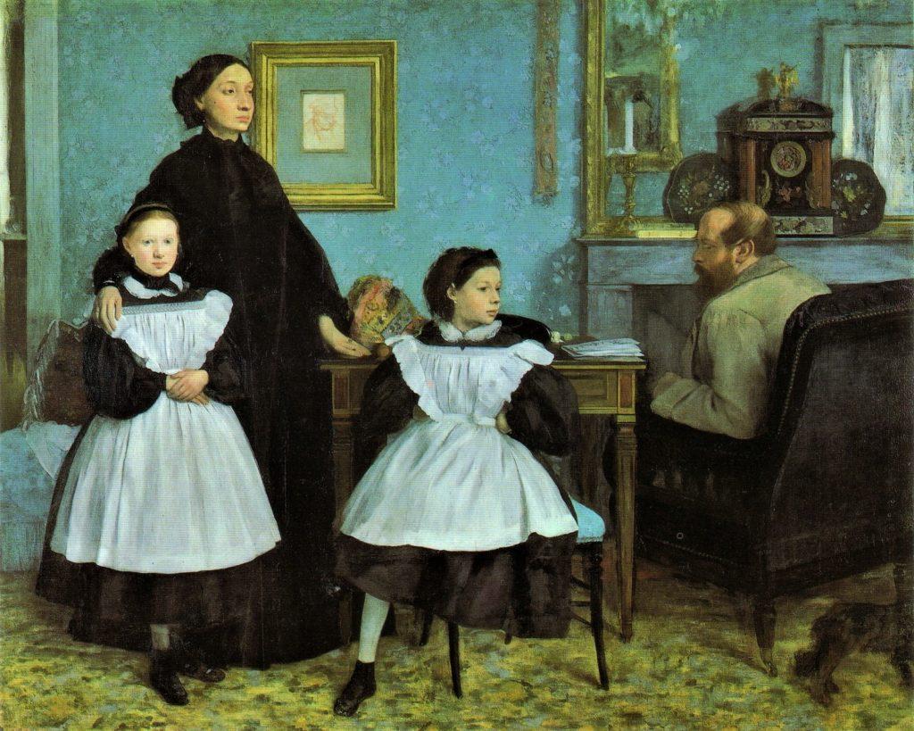 De Gas, Edgard, S1867-444, portrait de famille. Now: Degas, 1858-67, CR79, family portrait (the Bellelli family), 200x253, Orsay (iR6;iR1;R47,p20,7;R26,no136). Note the lack of communication.