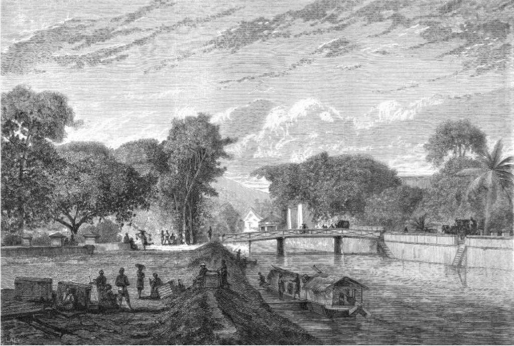Auguste de Molins, 1858-61, Batavia, ville ancienne 2, dr, xx, xx