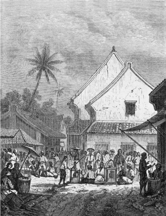 Auguste de Molins, 1858-61, Cuisiniers ambulants, à Soërabaija, dr