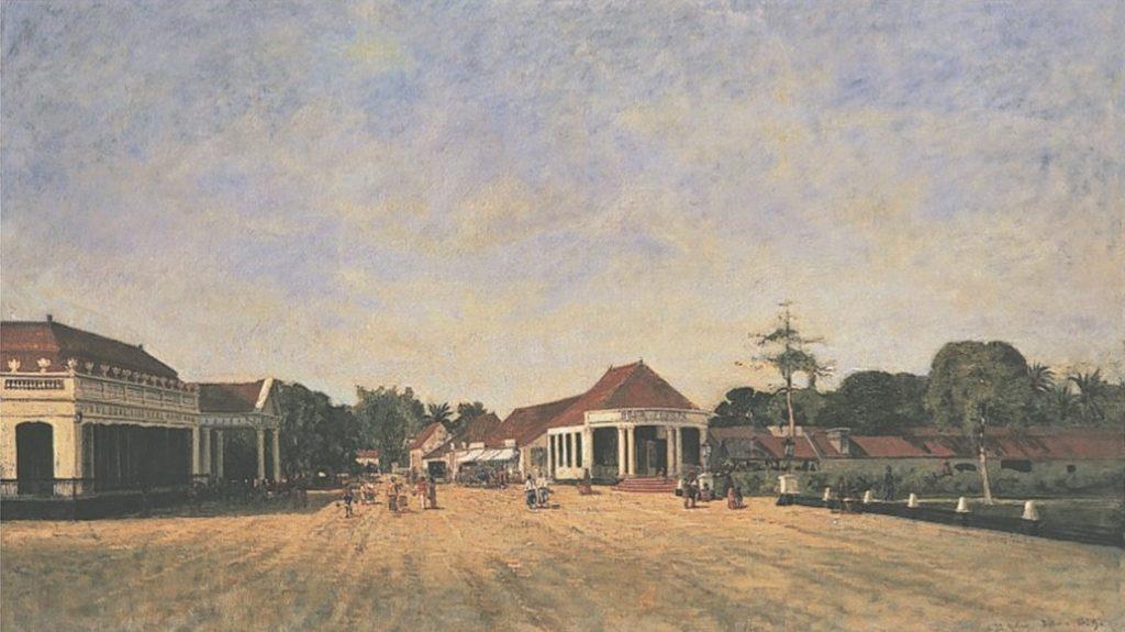 Auguste de Molins, 1859, Daily activities, Batavia (Tableau or Vue de Batavia), 56x94, A2008/02/27