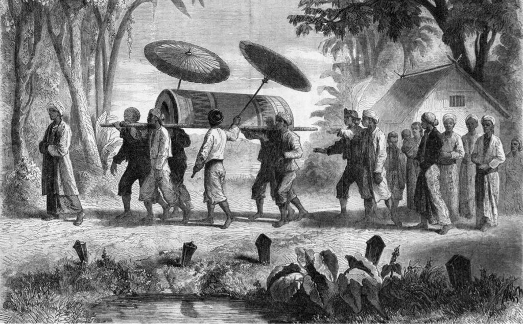 Auguste de Molins, 1864/12/17, Un enterrement à Java, xx, Le Monde illustré