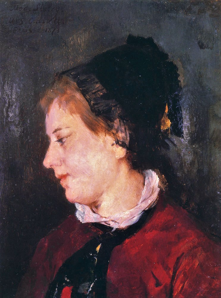 Mary Cassatt, 1873-4, Portrait of Mme Sisley (Marie Lescouezec), xx, private