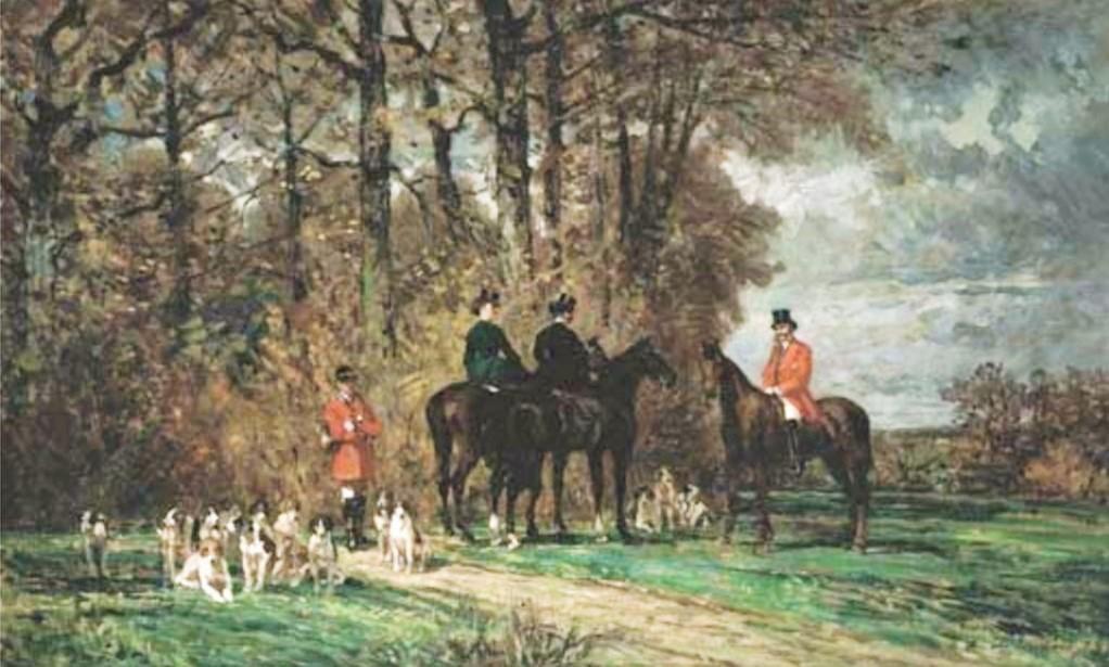 Auguste de Molins, 1873, Chasse à courre, 56x35, A2005/06/22