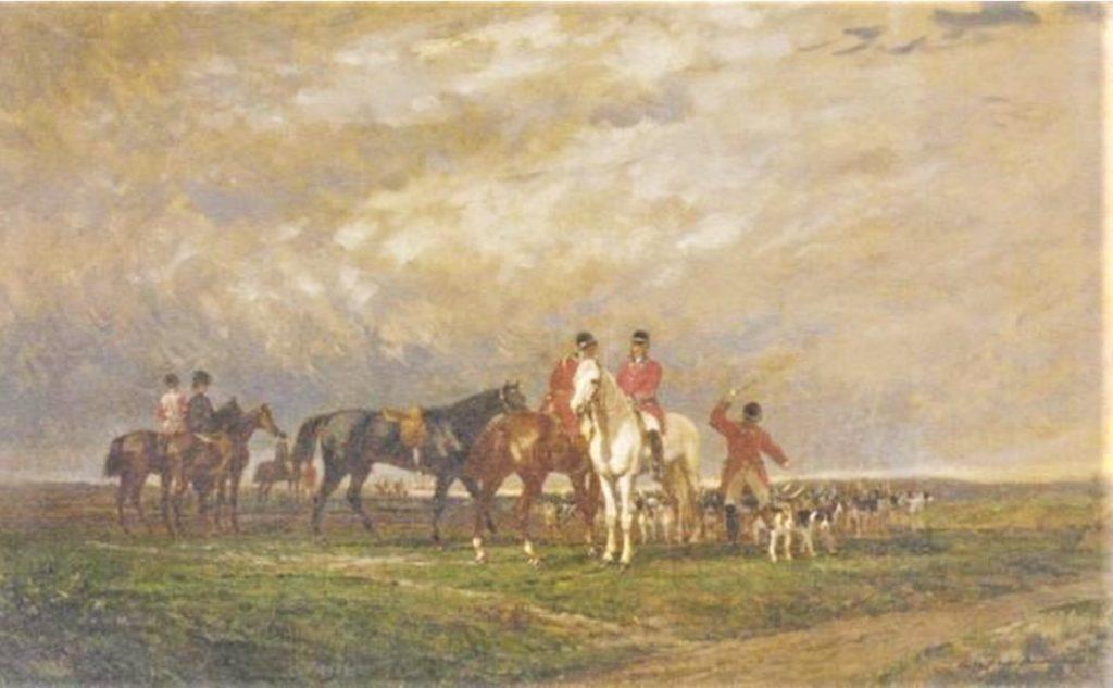 Auguste de Molins, 1874, Chasse à courre en plaine, 35x55, A2003/12/05