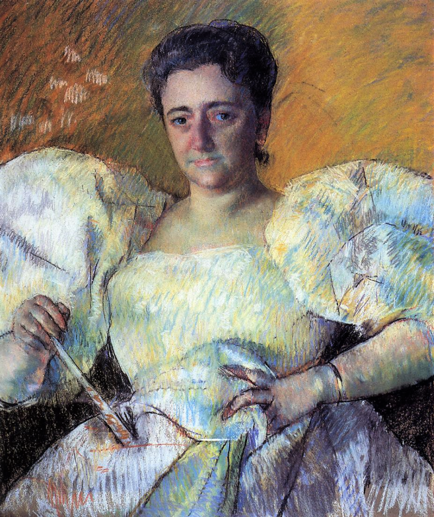 Mary Cassatt, 1896, Portrait of Mrs. H. O. Havemeyer, pastel, 74x61, Shelburne M Vermont