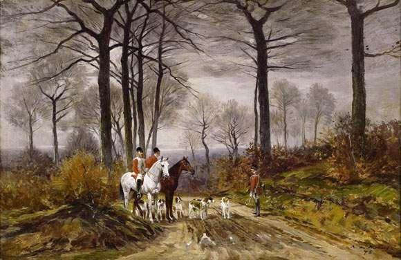 Auguste de Molins, 18xx, Chasse à courre, 40x61, A2007/12/15