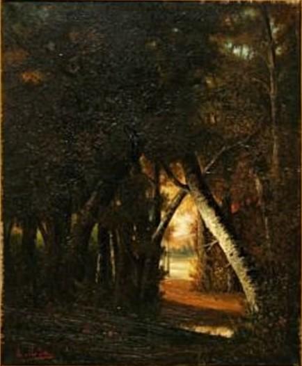 Auguste de Molins, 18xx, Fontainebleau, 65x54, A2009/06/08