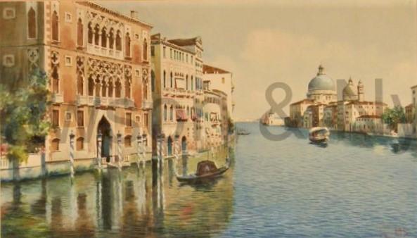 Auguste de Molins, 18xx, Le grande canal, Venice, wc, 34x59, A2009/12/09